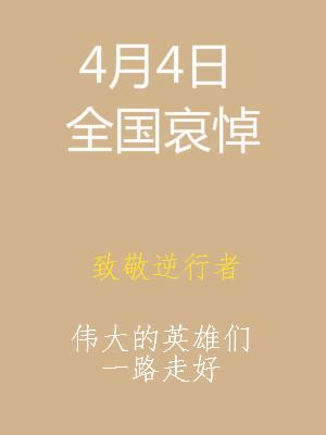 4月4日清明节全国哀悼疫情牺牲烈士句子简短 英雄哀悼词 第1张